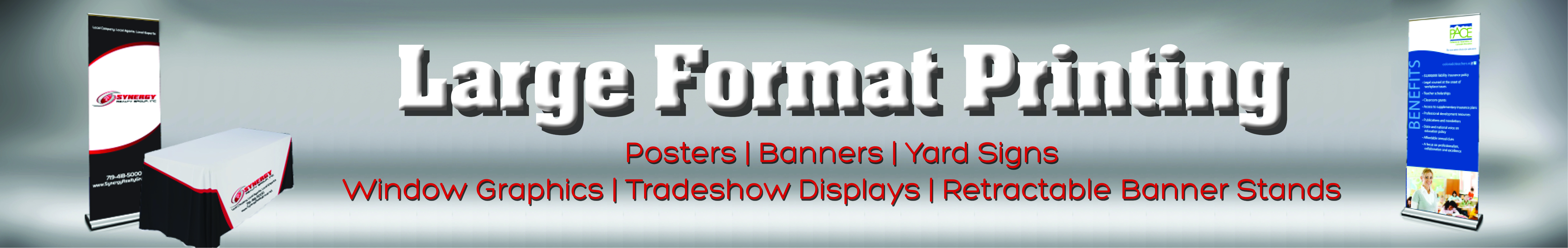 Large Format Printing - Posters | Banners | Yar Signs | Window Graphics | Trade Show Displays | Retractable Banner Stands